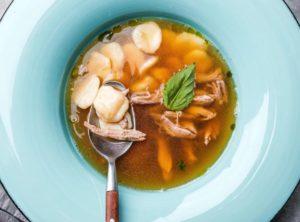 Домашний суп из утки с ньокками