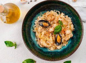 Тальятелле с морепродуктами